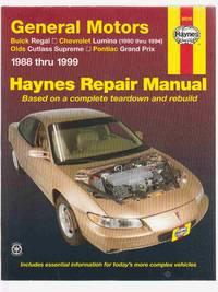 General Motors Buick Regal, Chevrolet Lumina (1990 Thru 1994) , Olds  Cutlass Supreme Pontiac Grand Prix 1988 Thru 1999