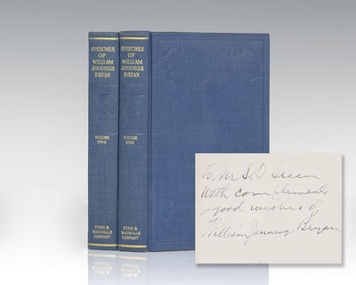 New York: Funk & Wagnalls Company, 1913. First edition of the collected speeches of William Jennings...