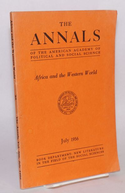 Philadelphia: American Academy of Political and Social Science, 1956. vii, 181p., foreword, index, v...