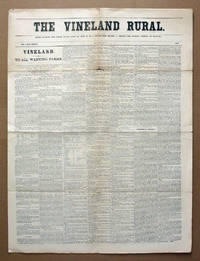 March, 1875 South New Jersey Newspaper, The Vineland Rural, With Supplement