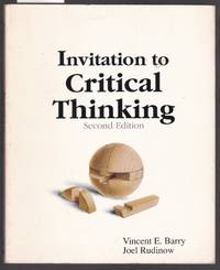 image of Invitation to Critical Thinking