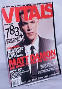 image of Vitals: the new men's magazine about life's great necessities; #1, Sept. 2004: Matt Dillon, his guide to winning the game