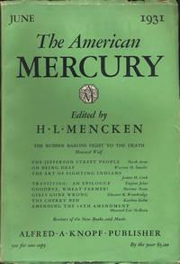 The American Mercury. June 1931. Volume XXIII, No 90