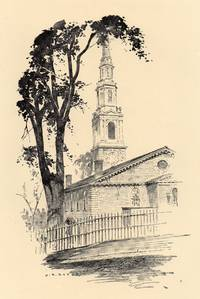 Fine Original 1922 Print of First Baptist Meeting House in Providence  Rhode Island by O. R. Eggers