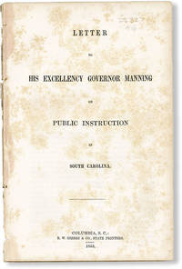 image of Letter to His Excellency Governor Manning on Public Instruction in South Carolina