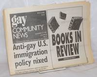 image of GCN: Gay Community News; the weekly for lesbians and gay males; vol. 18, #17, November 3-9, 1990: Anti-gay US immigration policy nixed_book review