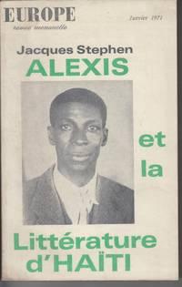Jacques Stephen Alexis Et La Litterature D'Haiti (Europe No. 501, January  1971)