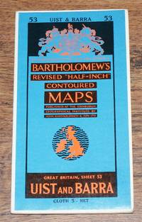 """Uist and Barra - Bartholomew's Revised """"Half-Inch"""" Contoured Maps, Great Britain Sheet 53"""