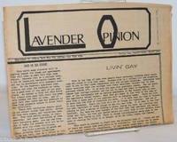 image of Lavender Opinion: vol. 1, #3, April 1974: Livin' Gay
