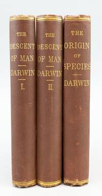 THE DESCENT OF MAN. [with] ON THE ORIGINS OF SPECIES by  CHARLES DARWIN - First American Edition of