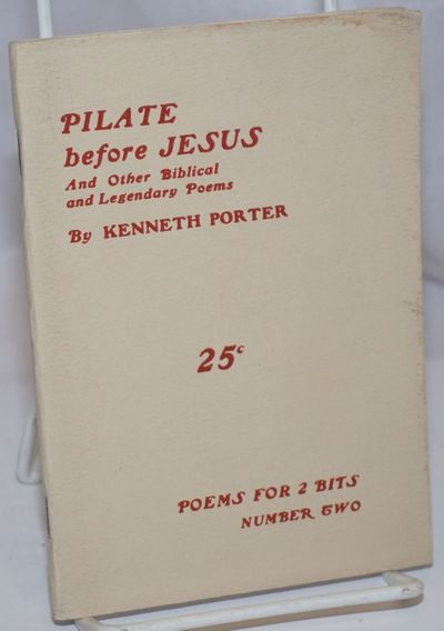 North Montpelier, VT: Poems for 2 Bits, 1936. Pamphlet. , wraps edge worn, text block right edge sli...