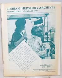 Lesbian Herstory Archives: newsletter #11, January, 1990;Mabel Hampton 1902-1989