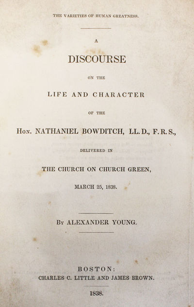 Boston: Charles C. Little and James Brown, 1838. First Edition. Hardcover. Octavo. Original printed ...