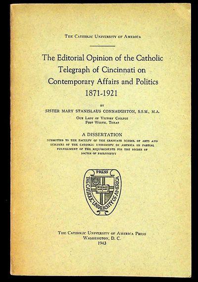 Washington DC: Catholic University of America Press, 1943. Paperback. Very Good. Paperback. Grey pap...