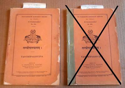Trivandrum: Superintendent, Government Press, 1938. Octavo; Good- condition wraps; orange spine with...