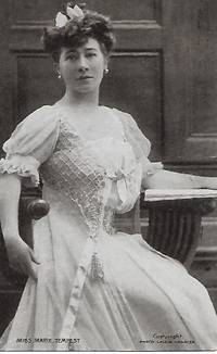 image of Edwardian Era Stage Actress, Marie TEMPEST on 1908 Lallie Charles Postcard