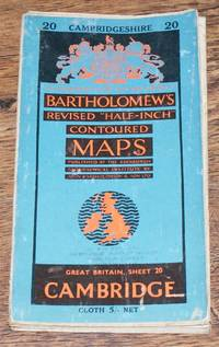 "Cambridge - Bartholomew's Revised ""Half-Inch"" Contoured Maps, Great Britain Sheet 20"