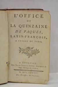 image of OFFICE (L') de la quinzaine de Paques, latin-françois, à l'usage de Paris.