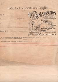 1900 Order form with measurment guide for The Henderson Ames Company, manufacturers of Uniforms, Shirts, Helmets, Caps, Belts and all other equipments for Fire Departments