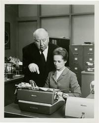 Marnie (Original photograph of Alfred Hitchcock and Tippi Hedren on the set of the 1964 film)