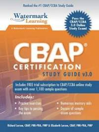 CBAP Certification Study Guide v3 0 by Richard Larson - 2016-01-03 - from  Books Express and Biblio com