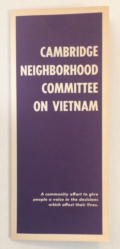 Cambridge, MA: the Committee, 1967. Six-panel brochure introducing the local activist group affiliat...