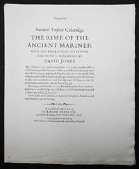 image of Prospectus for The Rime of the Ancient Mariner by Samuel Taylor Coleridge with Ten Engravings on Copper and with a Foreword by David Jones