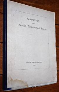 image of Transactions Of The Scottish Ecclesiological Society Vol X Part II 1931-1932