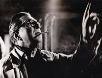 image of The Gorgon (Collection of four original photographs of Terence Fisher, Christopher Lee, Richard Pasco, and Peter Cushing on the set of the 1964 British horror film)