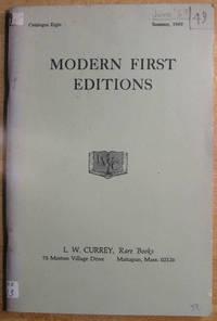 Modern First Editions: Catalog Eight: Summer 1969