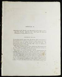 image of Observations on the Naiades; and Descriptions of New Species of that, and other Families by Isaac Lea [Transactions of the American Philosophical Society, vol. 5 New Series, Article II]