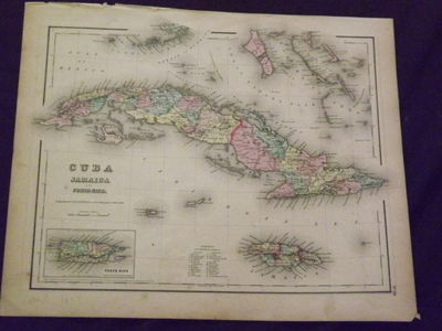 New York: Colton J.H., 1857. Unbound, colored engraved map, 16