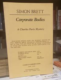 CORPORATE BODIES. A Charles Paris Mystery (proof)