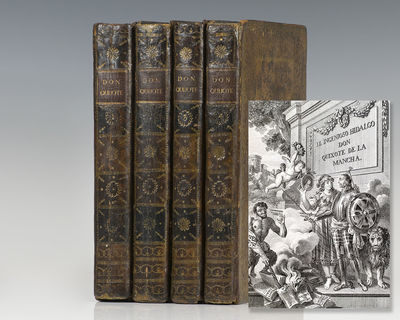 Madrid: Don Joaquin Ibarra, 1780. The deluxe illustrated Ibarra edition of Cervantes' masterpiece