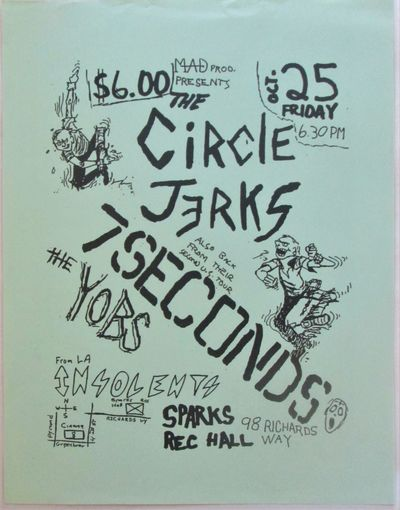The Circle Jerks and 7 Seconds Friday...