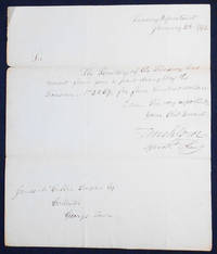 Autograph signed letter as Assistant Secretary of the Treasury to James McCubbin Lingan