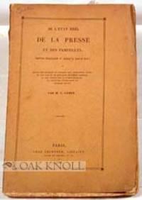 Paris: Chez Techener, 1834. original stiff paper wrappers. small 8vo. original stiff paper wrappers....