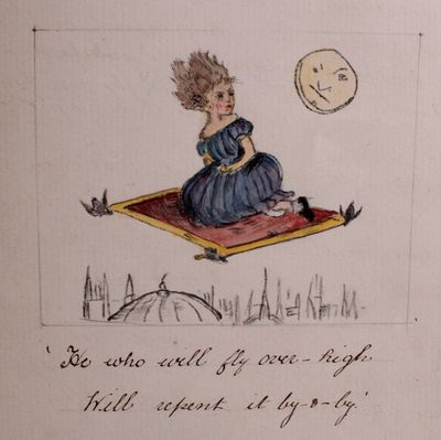 England, 1881. Collection of Handwritten and Illustrated Children's Stories and Poems. 9¼