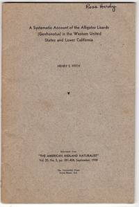 A systematic account of the alligator lizards (gerrhonotus) in the western United States and lower California (reprinted from The American Midland Naturalist Vol. 20, No. 2, pp. 381-424, September 1938)