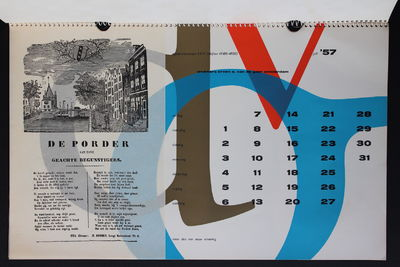 Calendars designed by Wim Crouwel. A collection of 13 calendars (published from 1957-1979 non-consec...