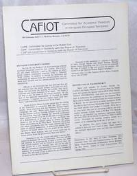 CAFIOT: Committee for Academic Freedom in the Israeli Occupied Territories [single issue of the newsletter]