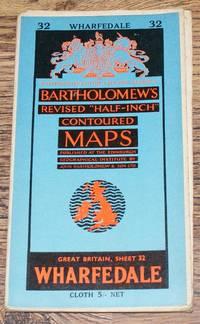 "Wharfedale - Bartholomew's Revised ""Half-Inch"" Contoured Maps, Great Britain Sheet 32"