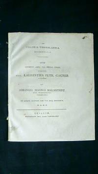 De colonia Vermelandia dissertatio.