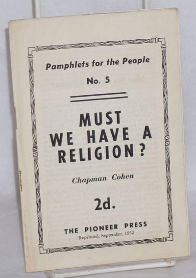 London: The Pioneer Press, 1952. 14p., wraps slightly worn. Reprint edition.