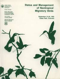image of Status and Management of Neotropical Migratory Birds; 1992 September 21-25; Estes Park, Co