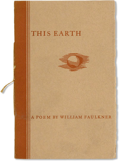 New York: Equinox, 1932. First Edition. 12mo; sheets gathered and sewn into tan and brown printed wr...