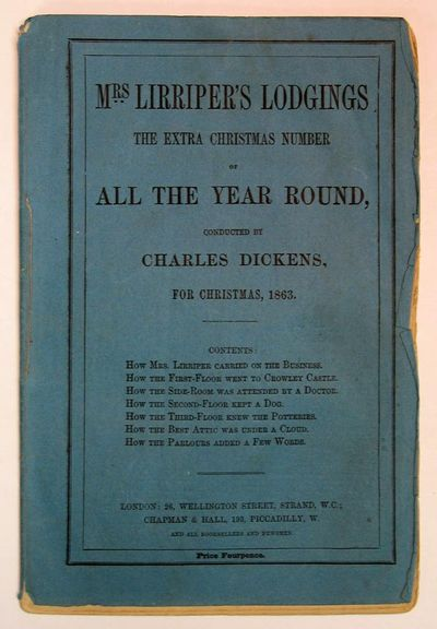 London, 1863. 1st edition (NCBEL III, 813). Original blue printed wrappers, sewn. A VG+ copy showing...