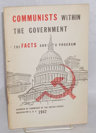 Washington: the Chamber, 1947. Pamphlet. 57p., stapled wraps, 6x9 inches, slight soiling along spine...