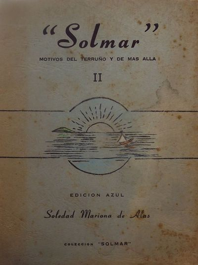1959. DE ALAS, Soledad Mariona. SOLMAR II MOTIVOS DEL TERRUNO Y DE MAS ALLA. : Coleccion