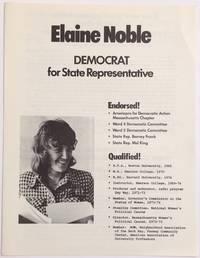 Elaine Noble: Democrat for State Representative